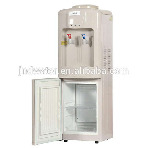 Hot and Cold Water Cooler with Mini Fridge