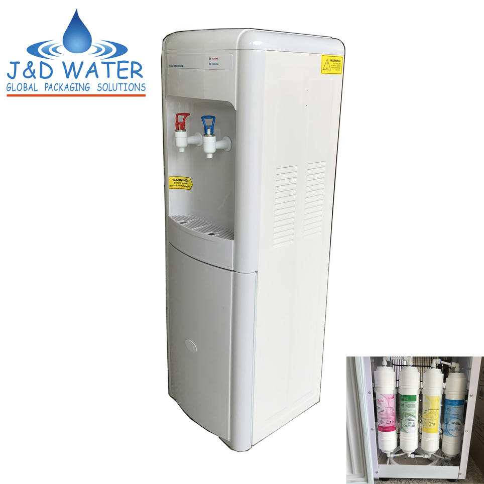 CE Certificate POU Hot and Cold Water Dispenser with Mini Filter