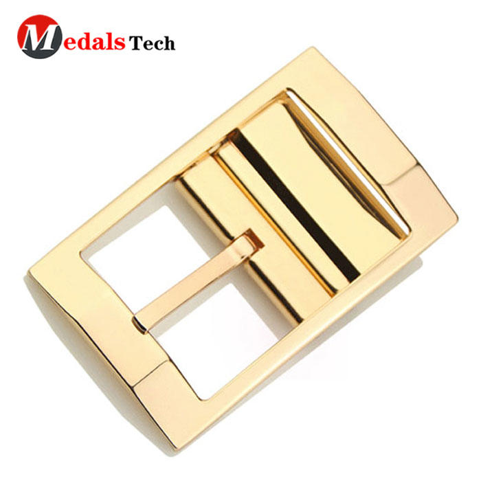 Fashion cheap custom gold plated safety metal coatbelt buckle