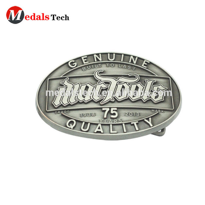 OEM customized and excellent zinc die cast antique plated Military buckle metal belt buckle