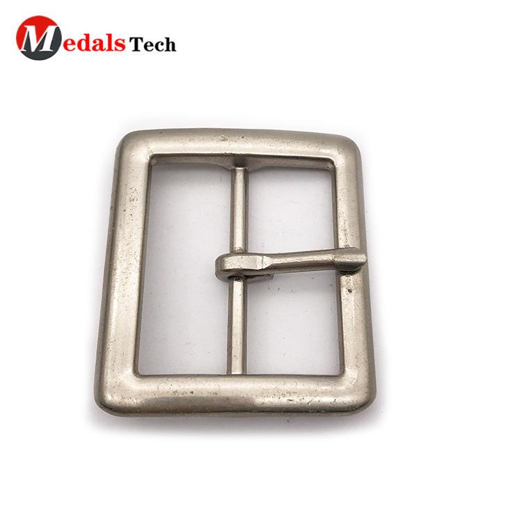 Cheap fashion simple silver pin blank head belt buckles