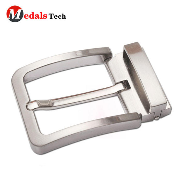 Factory custom popular reversible adjustable blank metal belt buckle