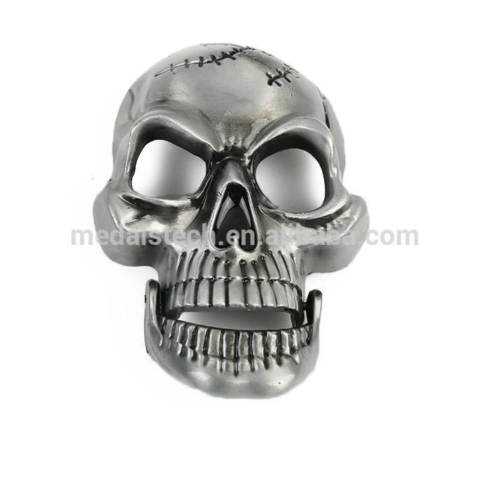 Wholesale custom made 2D/3D skull belt buckle in zinc alloy