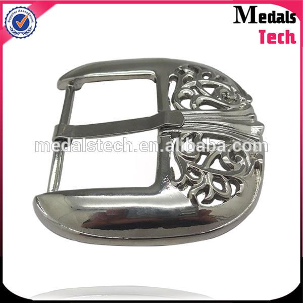 Znic alloy popular plain antique silver pin belt buckle