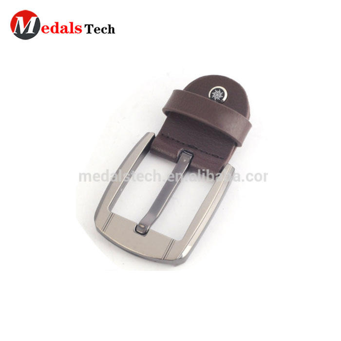 China promotional supplier custom znic alloy silver quality metal head belt buckle