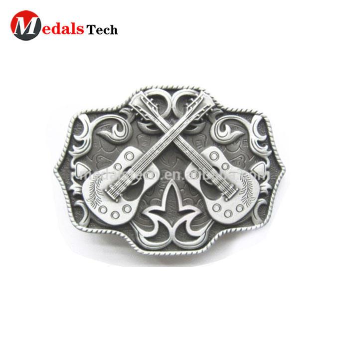 Oval big antique shape die casting german belt buckle with free artwork