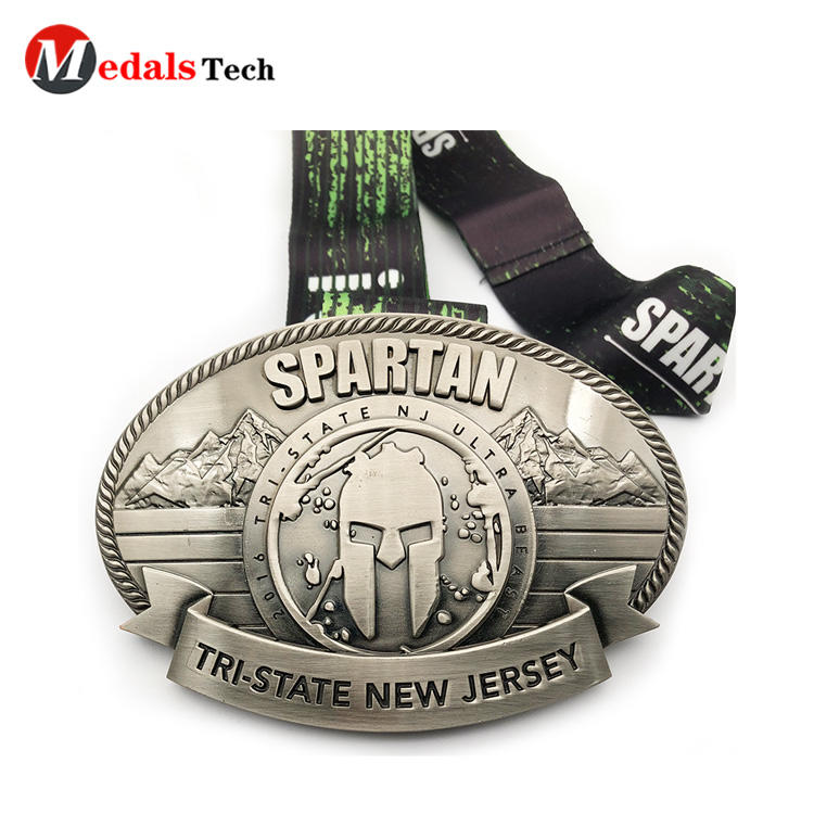 Cheap custom creative 3d logo souvenir medal belt buckles