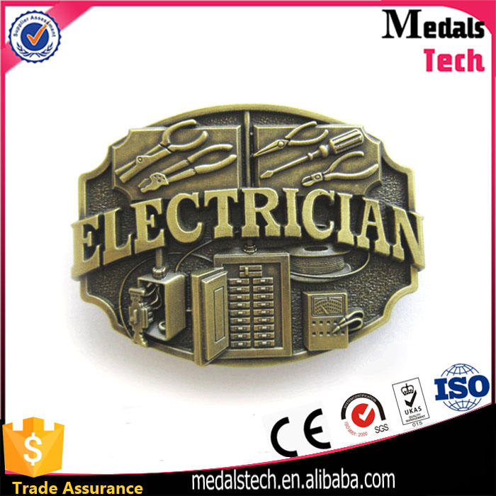 High quality eco-friendly personalized black nickle plated simple belt buckle