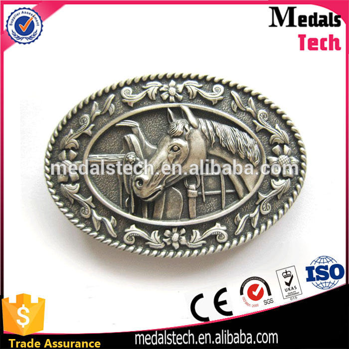 2017 hot sale high quality inexpensive zinc alloy horse belt buckle wholesale