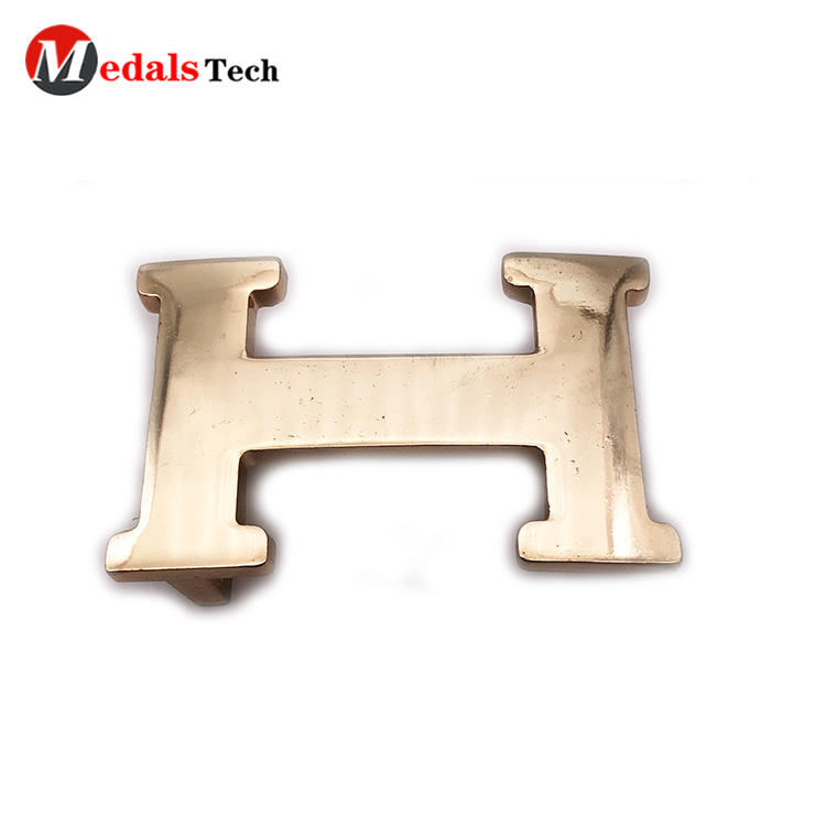 High quality letter shape gold die casting bagbelt buckles