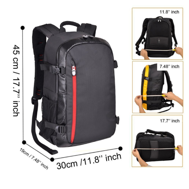 product-Osgoodway-Osgoodway Large Capacity Multi-function Waterproof Dslr Camera Bags Backpack for P