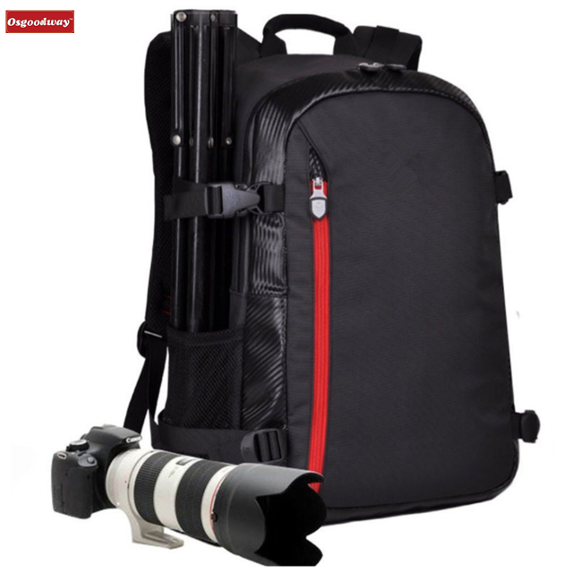 Osgoodway Large Capacity Multi-function Waterproof Dslr Camera Bags Backpack for Professional Photography