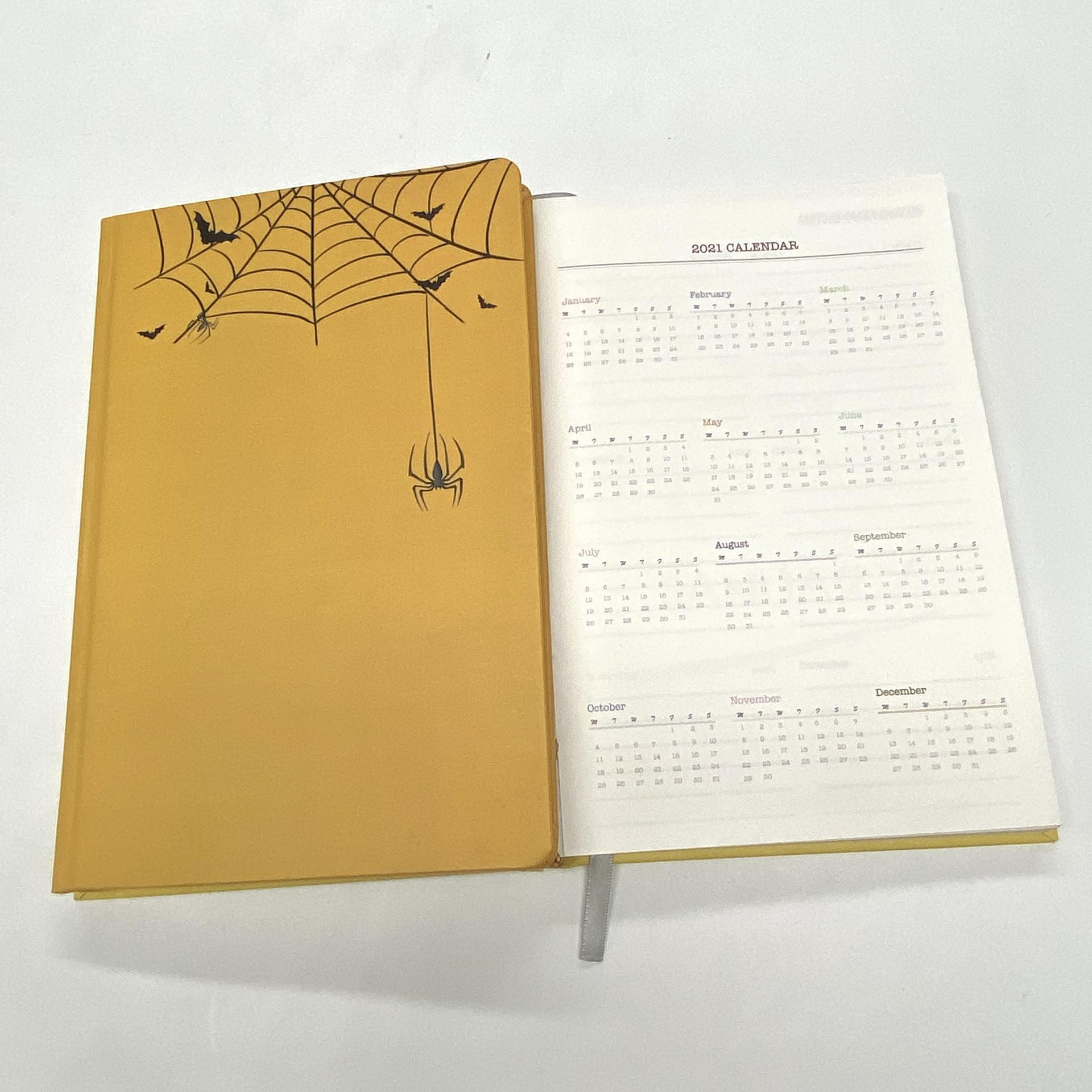 product-Dezheng-A5 Yellow Colorful Custom Elegant Wedding Planner Thick Notebook Hardcover-img-1