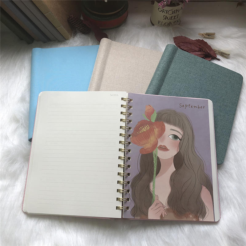 Spiral Notebook College Ruled, Hardcover Journal with 112 Lined Pages Floral with Pen Holder 8.5 x 11 Thick Paper