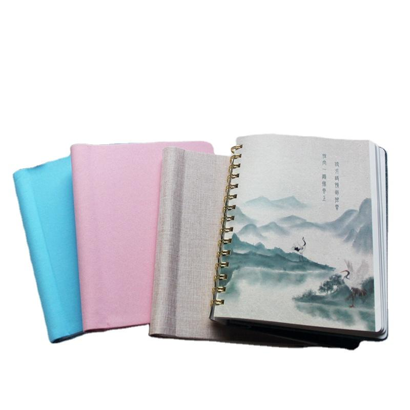 A4 A5 Wholesale JournalWholesale Hardcover Fancy Stationary Notebooks Spiral YO Binding with Custom Printing