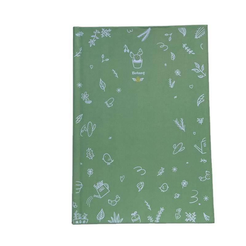 School Supplies Green Hardcover Journal Printing GraphPlanner Notebook
