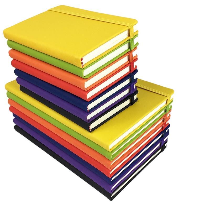 Custom A5 Hardcover Elastic Resistance Band School Notebooks Wholesale
