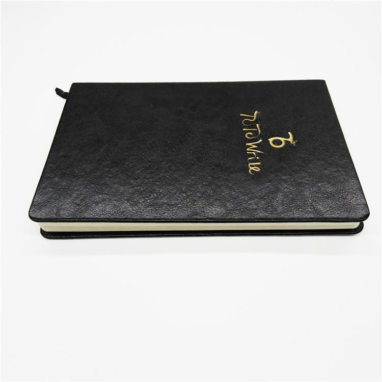 product-Custom Journal Notebook A5 Hardcover Hard Sewn Binding Hardcover Gold Foil Notebook-Dezheng--1