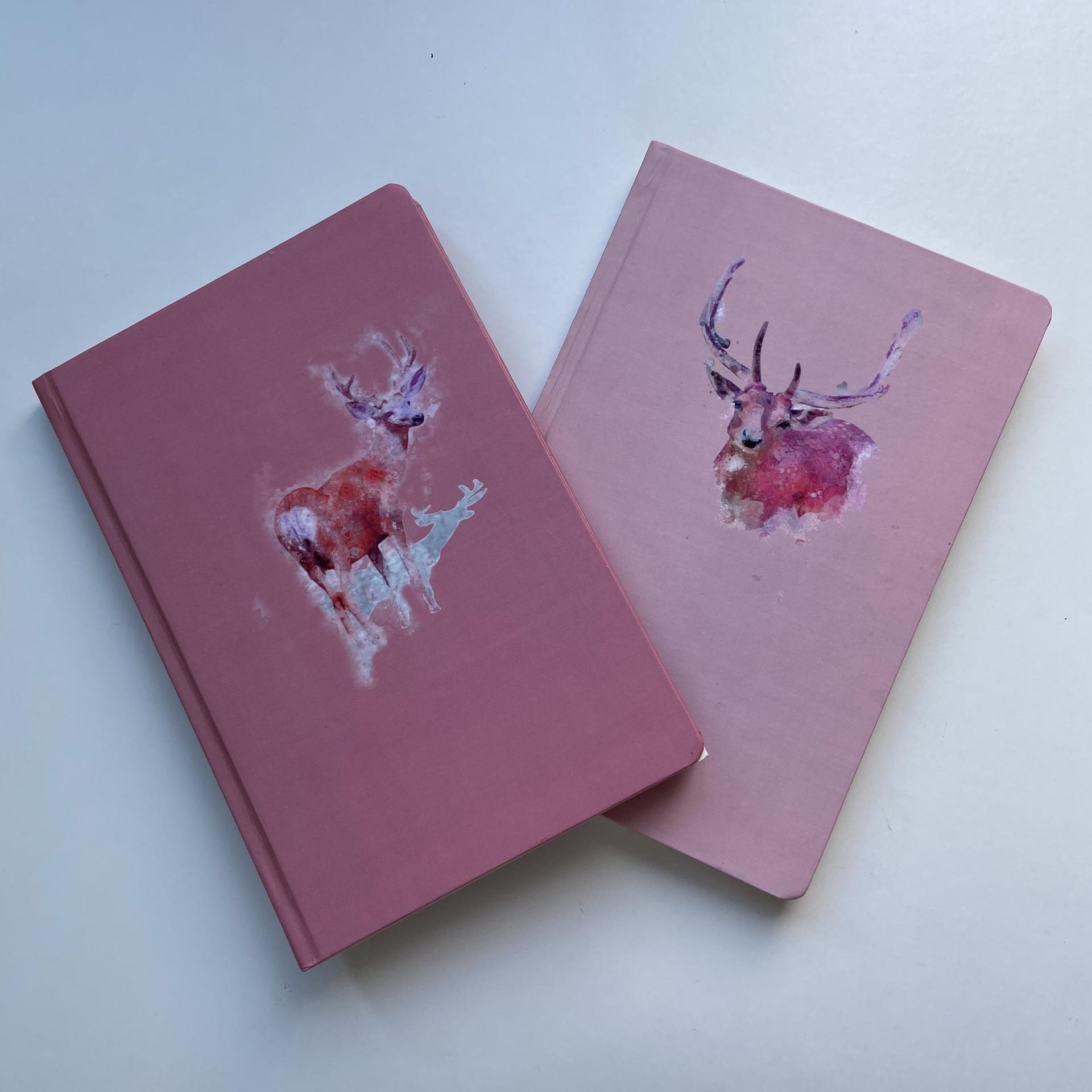 product-Pink Diary Composition Books Hardcover Business Notebook With Book Mark-Dezheng-img-1