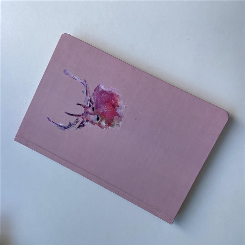 product-Dezheng-Pink Diary Composition Books Hardcover Business Notebook With Book Mark-img-1