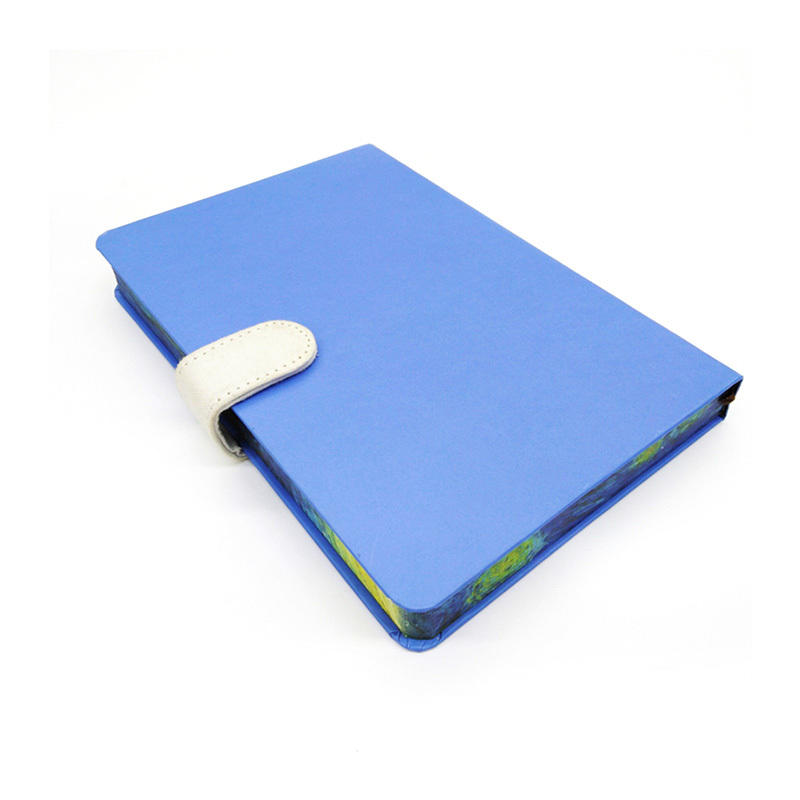 Office Supplies Small Leather Hardcover Journal Rainbow Edge Journal Leather Hardcover Refillable Notebook With Magnetic Clasp