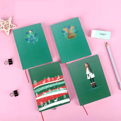 160 Pages Personalized Book Binding Green Diary Hardcover Notebook For Girls