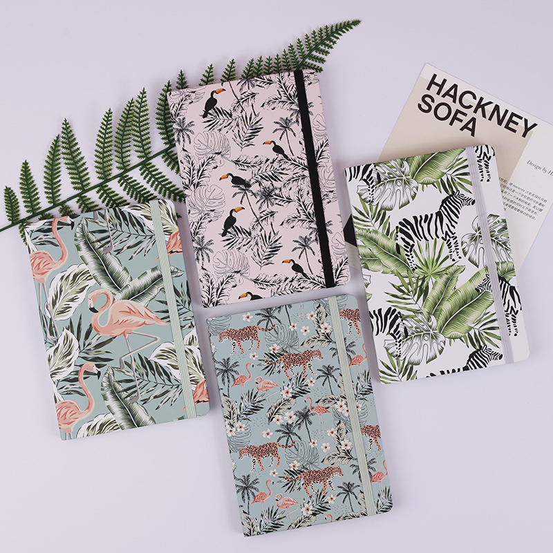 product-Dezheng-Custom Print Notebook Hardcover Lay Flat Elastic Band For Planner Custom Printed A5 -1
