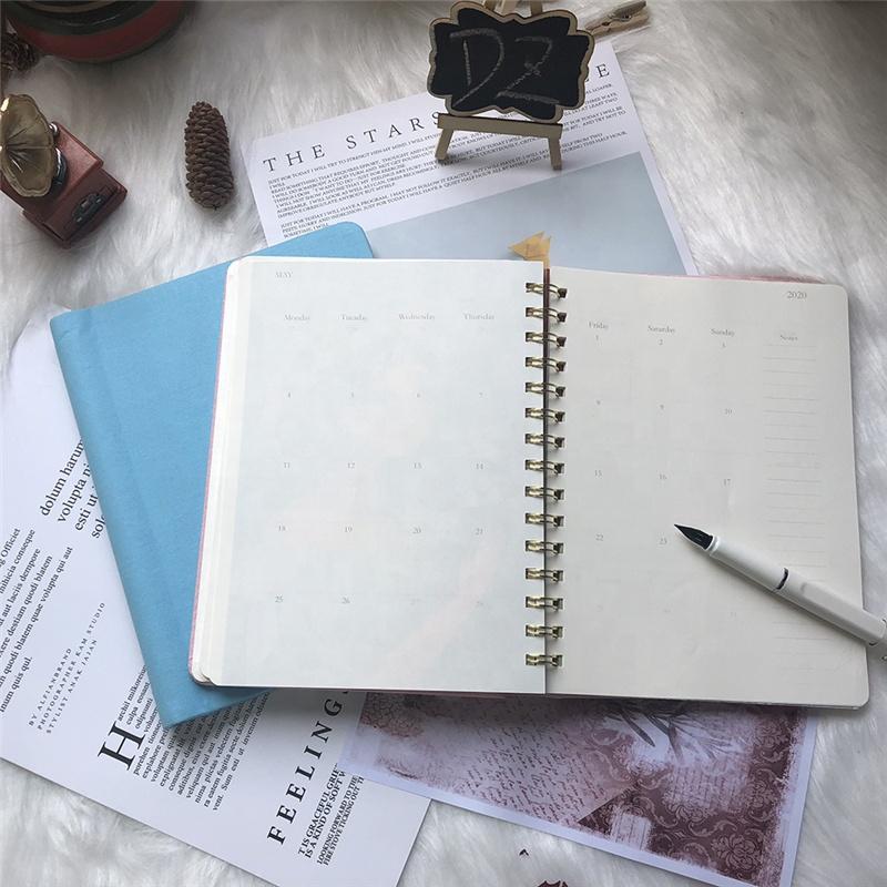 Bulk Plain Paper Custom Design Lined 5x8.25 Spiral Hardcover Notebook