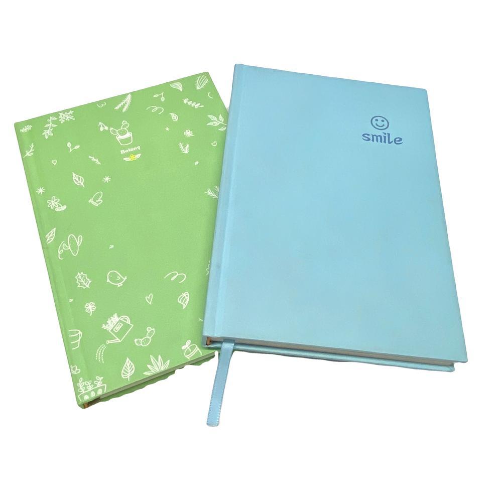 A5 Blue 2021 Planner Custom Logo JournalsFitness Hardcover Notebook