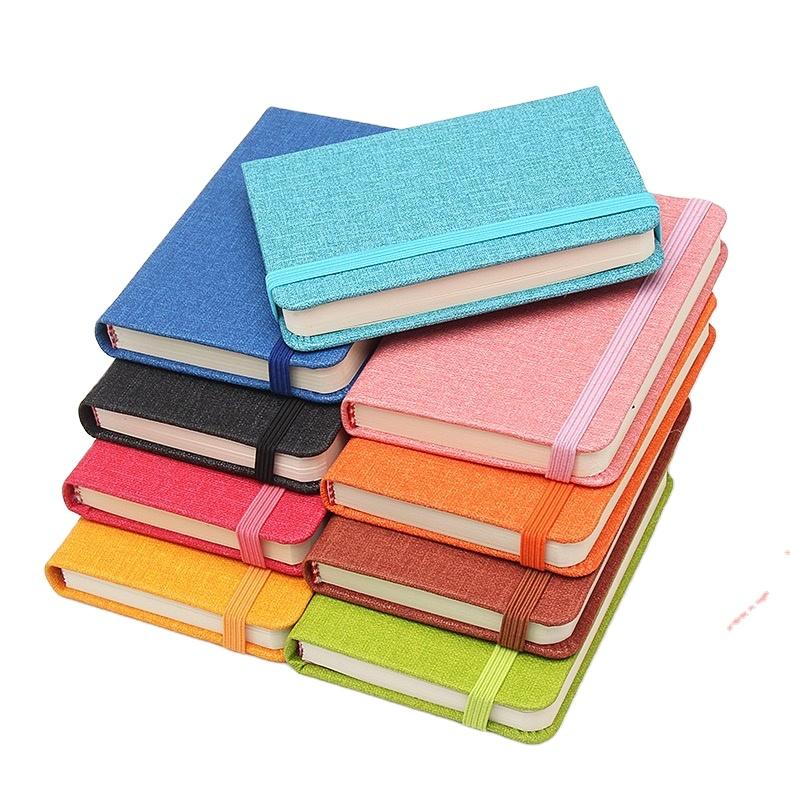 product-A5 Knitted elastic band Hardcover-picture-book-print Luxury notebook-Dezheng-img-1