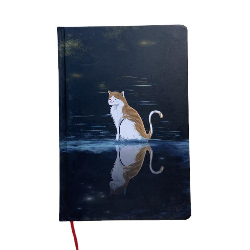 Custom Simple Black Journal Hardcover Weekly Daily Planner Notebook