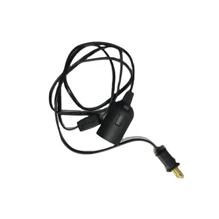 1.5m cable Himalaya salt lamp shade E14 220V UK plug BS Rohs0.75 mm 3 pin dimmer gear incandescent bulb iron slip plastic pad
