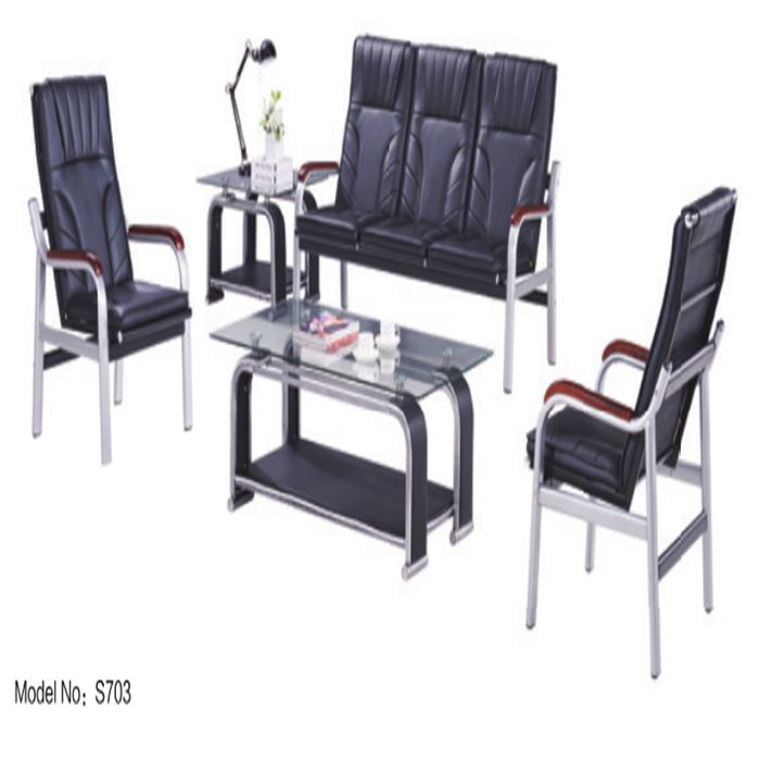cheap price factory manufacture office furniture sofa PU leather modern sofa