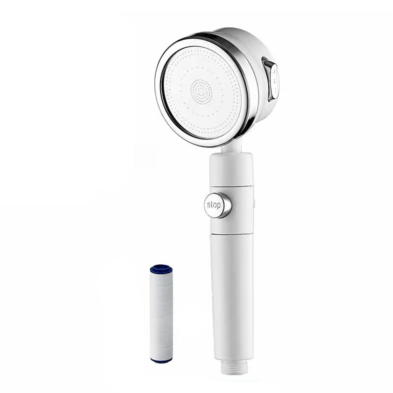Best Home Skin Care Duchas ABS Hand Shower Vitamin C Filter Shower Water Filter Head System With Silicon Cleaning Brush Head