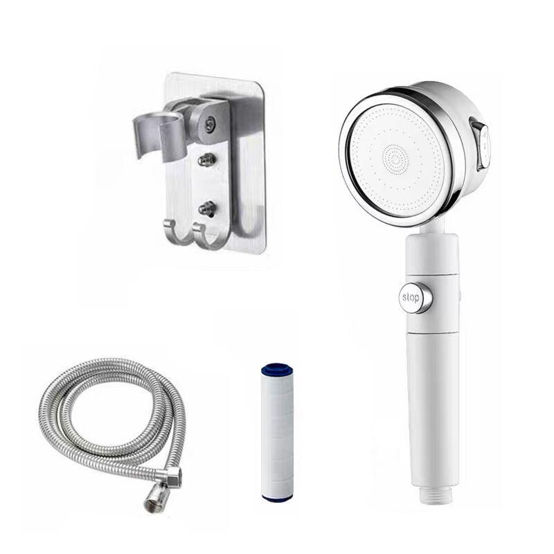 Manufacturer Supply Wholesale Non Electric Filter Water Dispenser Filtered Shower Head Black Filter Ball Shower Head