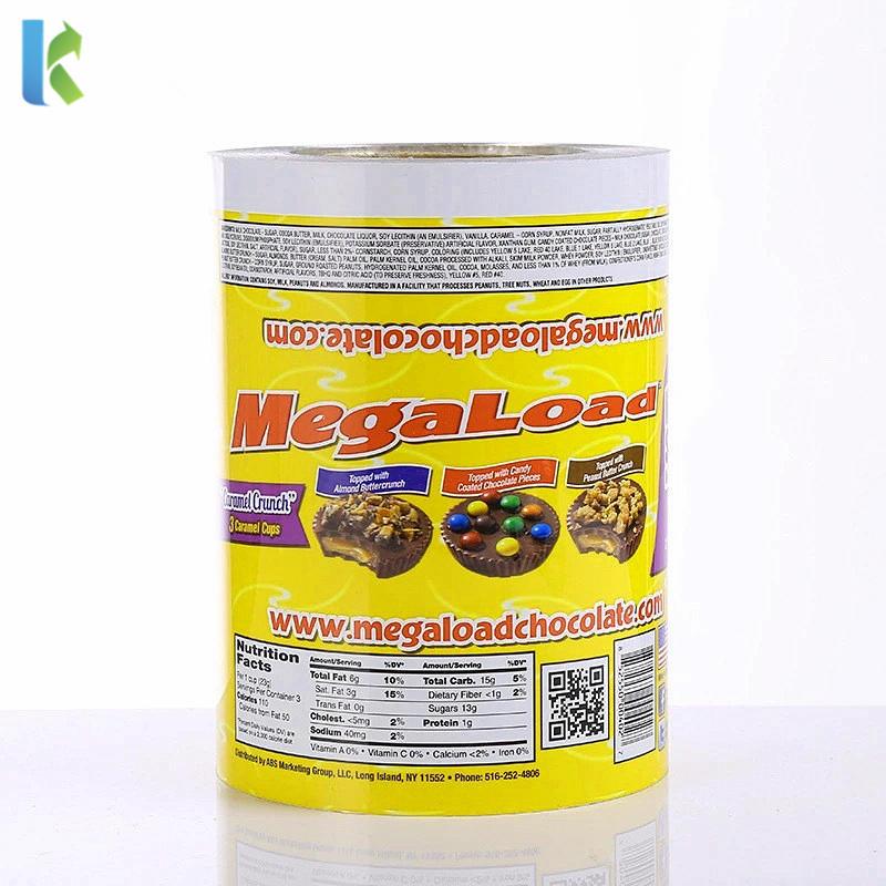 Laminating Plastic Food Packaging Printed Aluminum Roll Film Packaging Material