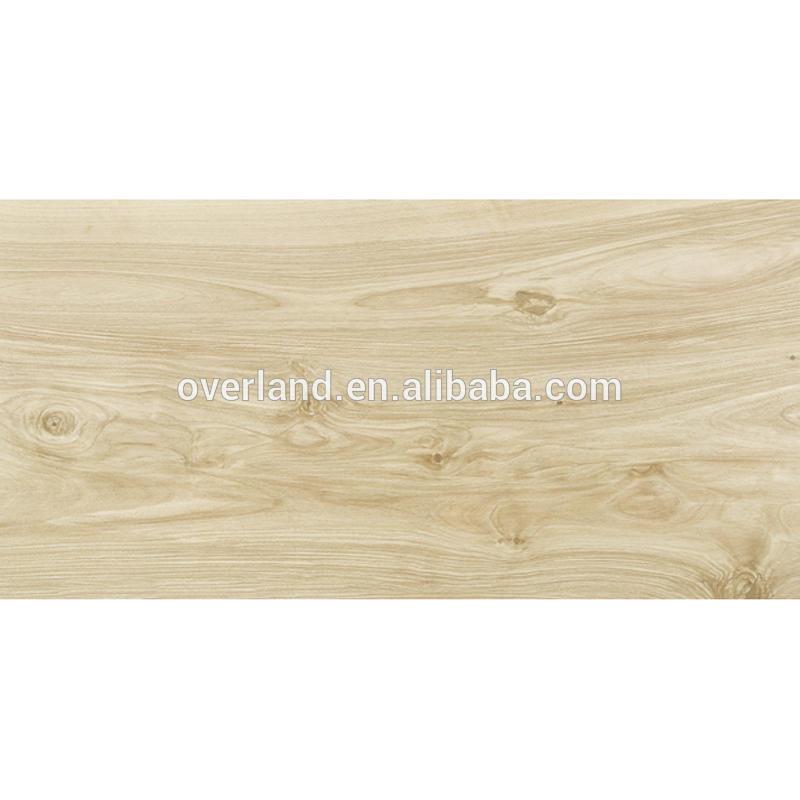 Large size ceramic faux wood grain effect tile flooring