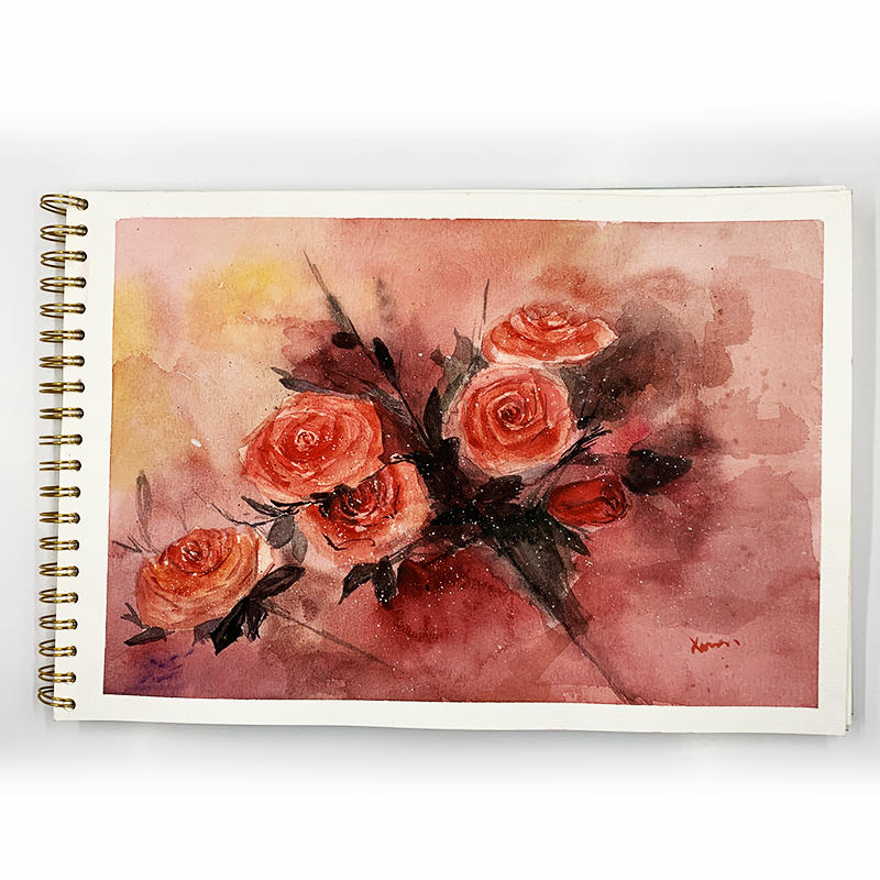 DDP ?% OFF Large Size Watercolor Sketch book SketchBook Spiral Blank Notebook for Drawing