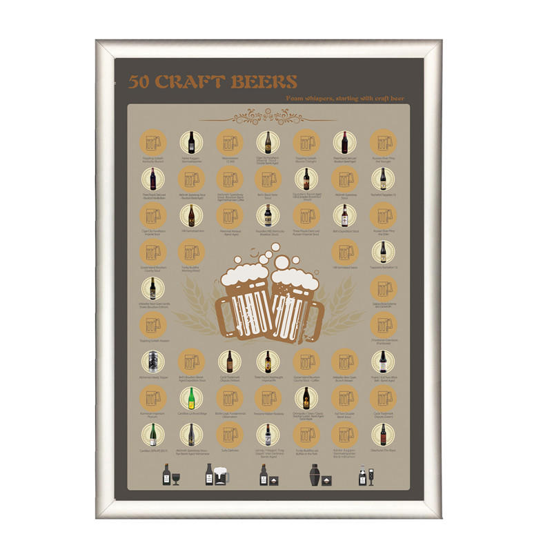 product-DDP OFF 50 Beers Bucket List Scratch Off Poster-Dezheng-img-1