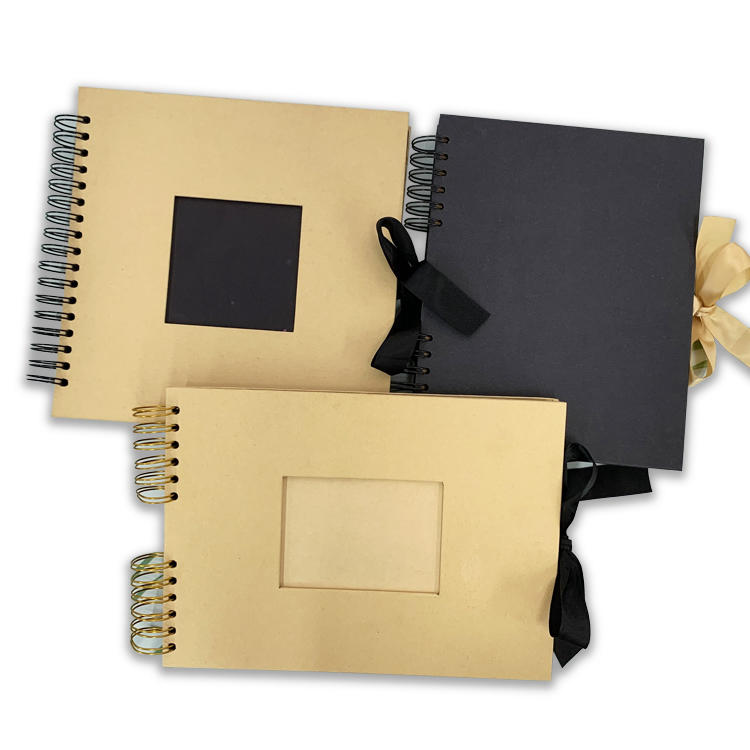 DDP ?% OFF Blank Kraft Paper Cover Black 80 Pages Wedding Photo Album