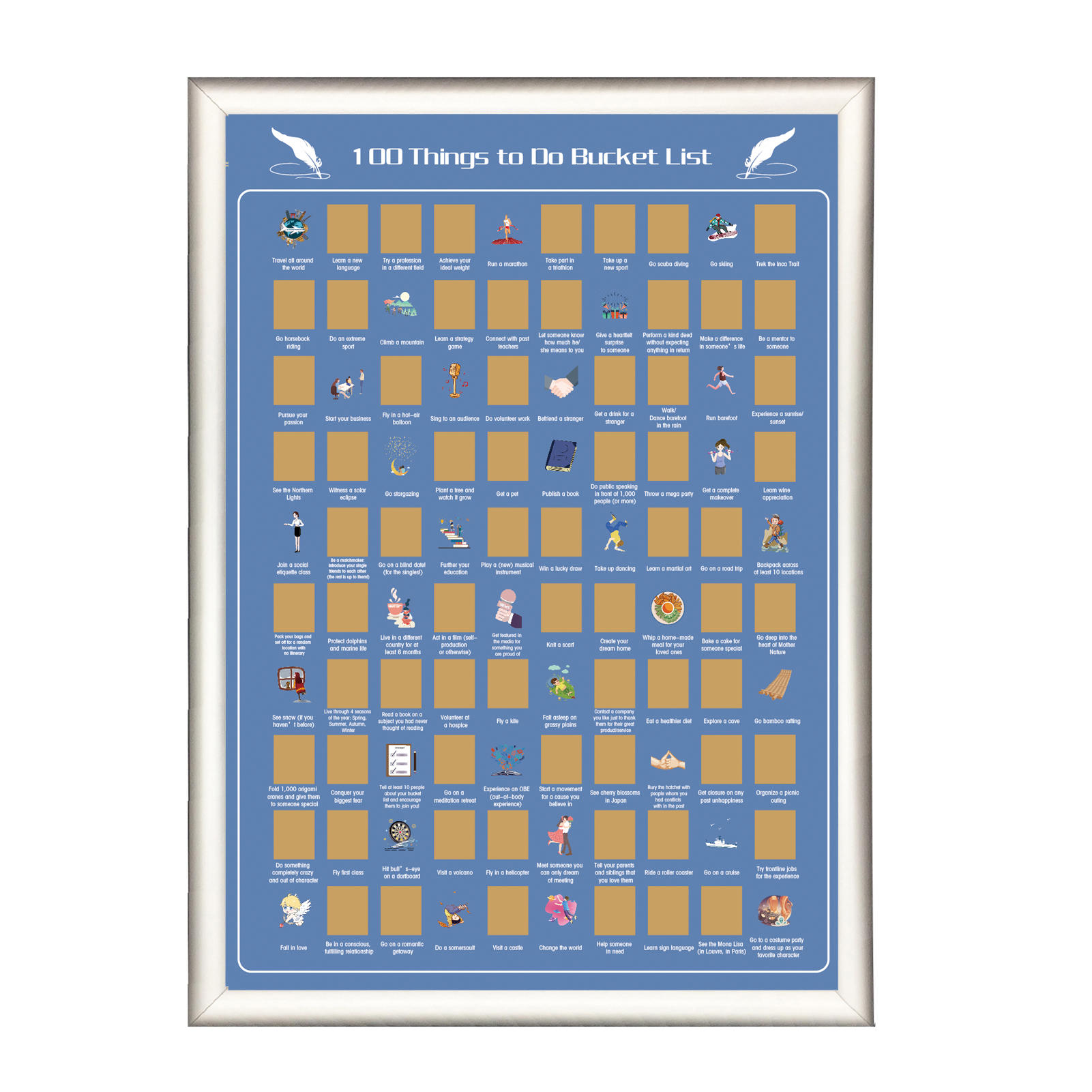 product-DDP OFF 100 Things to Do Bucket List Scratch off Poster-Dezheng-img-1