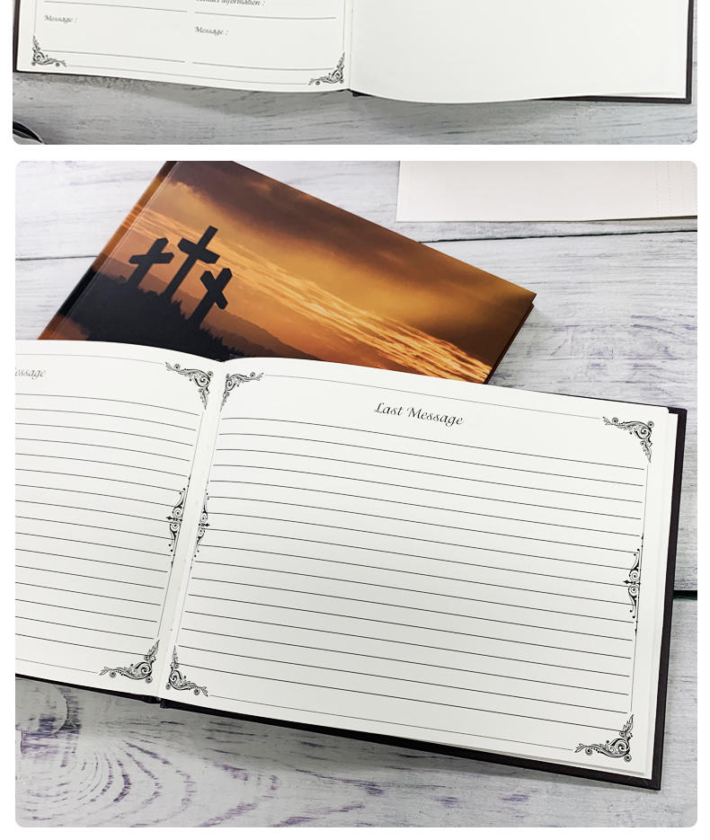 product-Dezheng-Custom Funeral Guest Memory Book Baby Record Book Guestbook Birthday Graduation Wedd-1