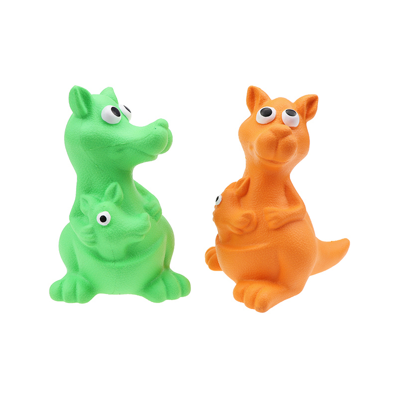 Best Quality Rubber Squeaky Kangaroo Dog Chew Toys
