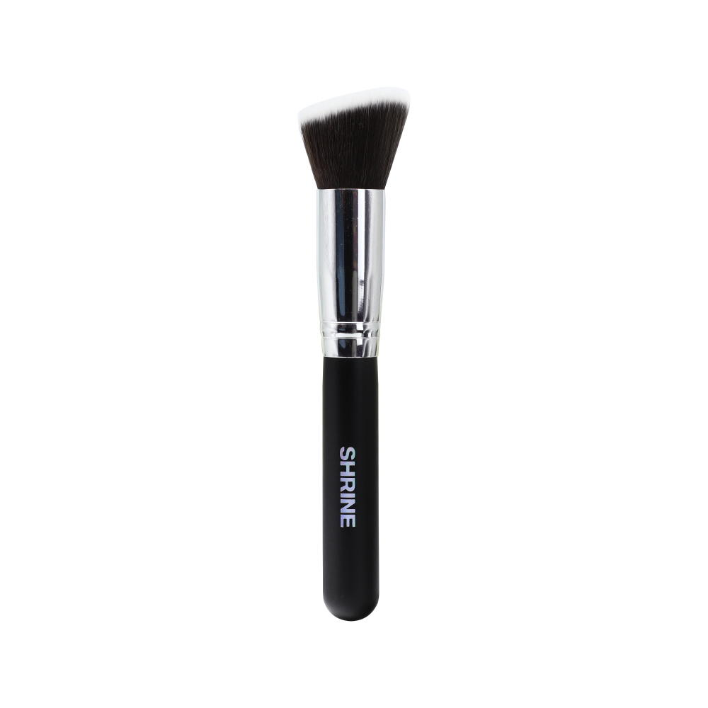 Big size flat top synthetic vegan foundation brush makeup blending foundation brush rose gold