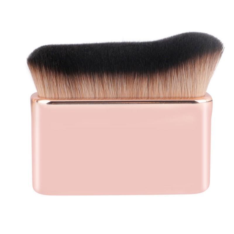 Private label white gold contour angle makeup foundation powder brush large kabuki brush