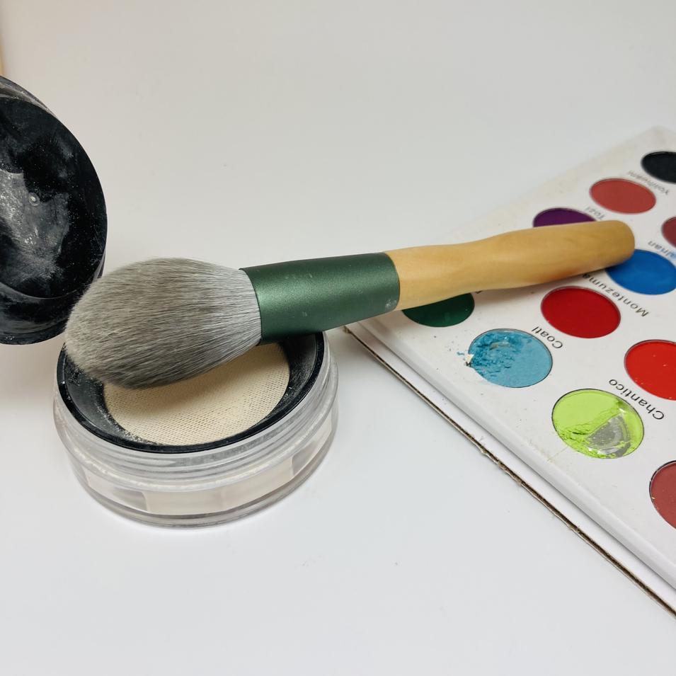 rose goldsingle bling angle black vegan kabuki makeup brush short colorful body foundation make up brush