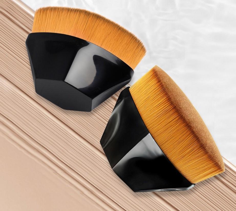 Vegan makeup brushes synthetic hair BB cream flat kabuki rhombic portable single makeup brush