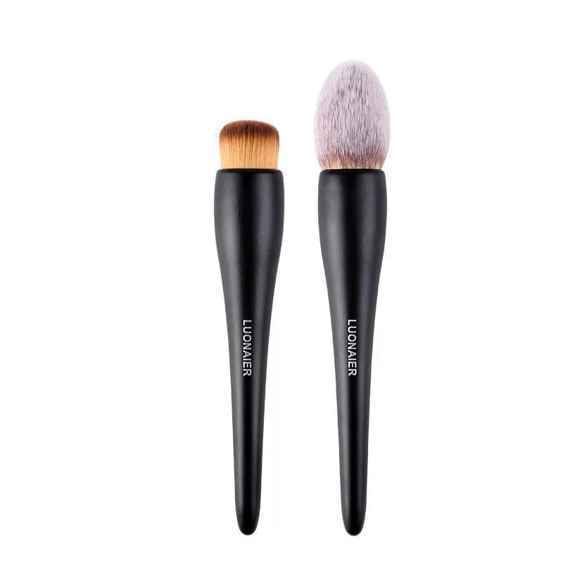 Single brush super soft vegan synthetic hair large makeup powder brush