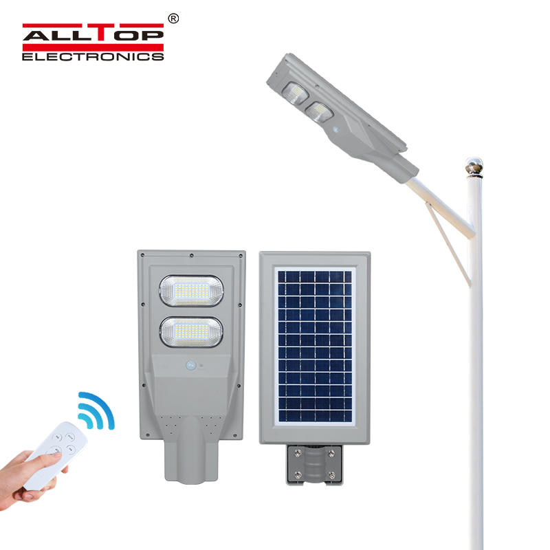 ALLTOP High quality outdoor IP65 waterproof photocell sensor 30w 60w 90w 120w 150w all in one solar led street light lamp