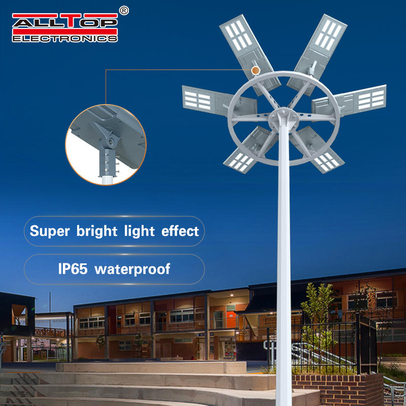ALLTOP Ultra high quality outdoor waterproof aluminum housing ip65 smd 200w integrated all in one led solar street light